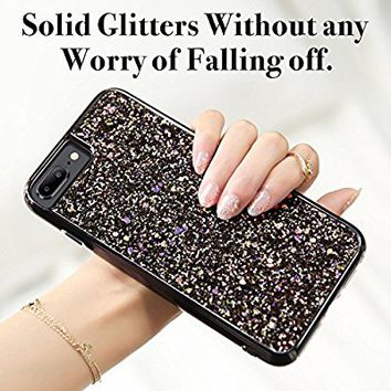 iPhone 8 Plus Case, iPhone 7 Plus Case, ESR Luxury Bling Sparkly Diamond Case [Supports Wireless Charging][Hard PC Back, Soft TPU Inner] Protective Cover Case for iPhone 5.5 inches(Black)