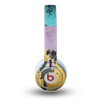 The Colorful Grunge Target Skin for the Beats by Dre Mixr Headphones