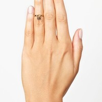 Skull Knuckle Ring - Gold