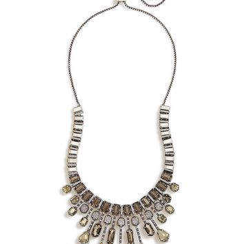 Bette Silver Statement Necklace in Pyrite | Kendra Scott