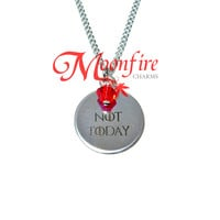 GAME OF THRONES Not Today Pendant Necklace
