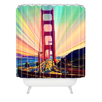 Shannon Clark Colorful Commute Shower Curtain