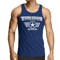 "Team Captain America tank top Inspired- ""TEAM ROGERS"" (Infinity War) Tank Navy Blue"