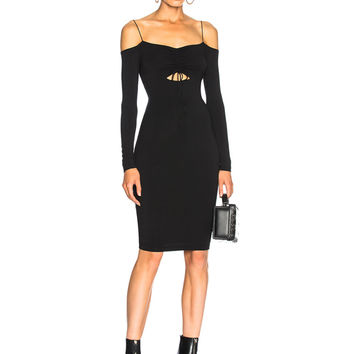 T by Alexander Wang Cut Out Mini Dress in Black | FWRD