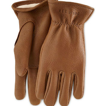 Red Wing Nutmeg Buckskin Leather Lined Glove