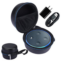 Travel Carry Pouch Sleeve Portable Protective Box Cover Bag Cover Case For Amazon Echo Dot and All-New Echo Dot (2nd Generation)
