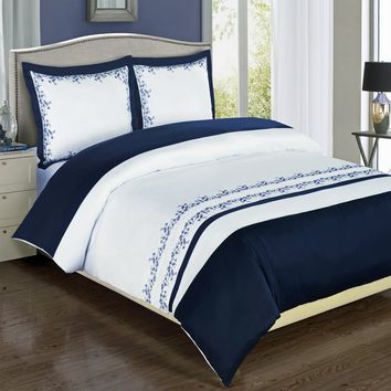 Amalia Embroidered Duvet Cover Set/Comforter set