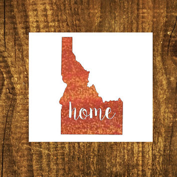 GLITTER Idaho Home Decal | Idaho State Decal | Homestate Decals | Love Sticker | Love Decal  | Car Decal | Car Stickers | Bumper | 104
