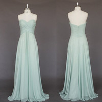 Mint prom dresses bridesmaid dresses Long Dresses, cheap prom dress, long prom dress, Bridesmaid Dresses, Prom Dresses, Flower girl