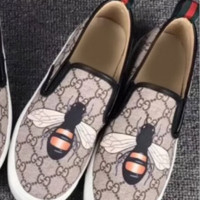 Gucci Fashion Trending Casual Flowers Design Loafer Shoes Flat Shoes Bee G
