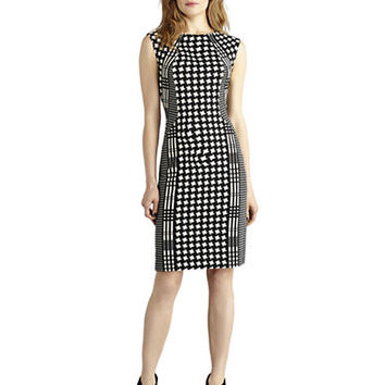 Donna Morgan Houndstooth and Plaid Sheath Dress