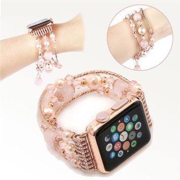 Bracelet Strap Band For Apple Watch Series 2/1 38/42MM Multicolor Lady Beaded