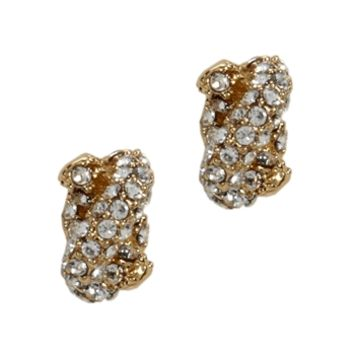 kate spade new york Sailor's Knot Pavé Stud Earrings at Von Maur