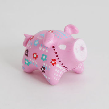SALE!!! Pig animal totem , Lucky talisman. Polymer clay animal OOAK figurine