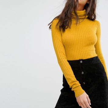 River Island Ribbed Roll Neck Jumper