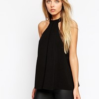 ASOS Pleat Front Halter Top