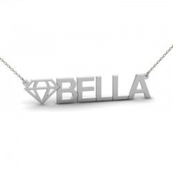 Sterling Silver Diamond Name Necklace