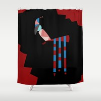 birdie Shower Curtain by Ia Po