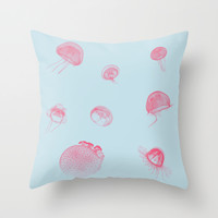 Jellyfish Throw Pillow by 83oranges.com
