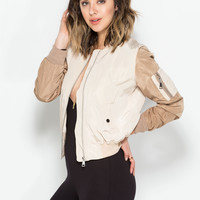 Bombers Away Contrast Jacket