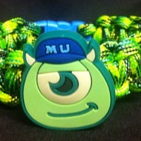 SULLEY OR MIKE MONSTERS UNIVERSITY 550 PARACORD SURVIVAL BAND
