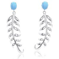 Katherine Jetter Sterling Silver Turquoise Daintree Earrings   Stone & Strand
