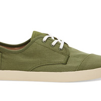 TOMS Olivine Canvas Men's Paseos Green