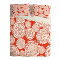 Heather Dutton Delightful Doilies Saffron Sheet Set Lightweight