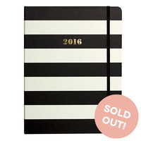 2016 kate spade new york Medium Agenda - Black Stripes