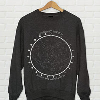 Star Chart Constellation Moon Phases Crewneck Sweatshirt // Moon Child Shirt // Boho Sweatshirt - Boho Clothing // Women's Urban Clothing
