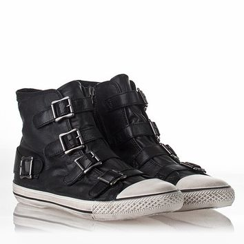 Mens Vincent Sneaker Black Leather 312183