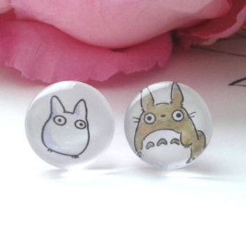 Anime Stud Earrings - Stud Earrings - Fake Plugs - Anime - Anime Earrings - Anime Jewelry - Fake Anime Plugs