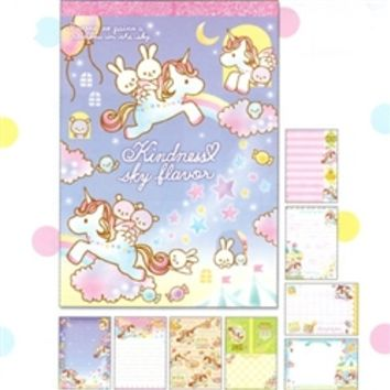 Q-Lia Kindness Sky Flavor Unicorns, Bunnies and Bears Memo Pad