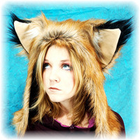 BeastWares Renard Furry Fox Hat-- Large Ears