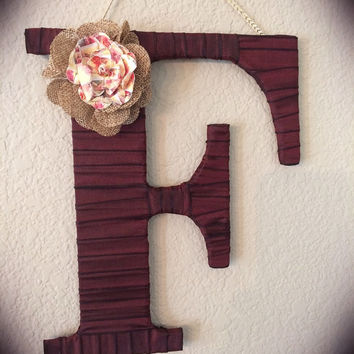 Large Hanging Letter, Letter F by Tightly Wound Designs