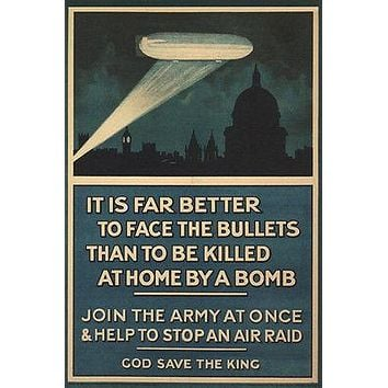BRITISH WW1 WAR PROPAGANDA vintage poster UK 1915 24X36 NEW UNIQUE prized!