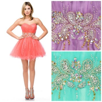 The Arabella Jeweled Waist Prom Formal Dress Gown