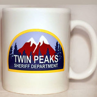 TWIN PEAKS - Coffee Mug - Sheriff Department - David Lynch - PERSONALISE FREE