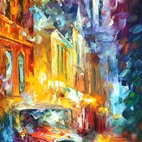 CULTURAL IMPRESSION — PALETTE KNIFE Oil Painting On Canvas By Leonid Afremov - Size 16x40. 10% discount coupon - deviantart10off