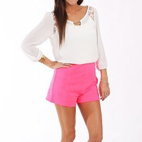 The Sasha Shorts, Neon Pink