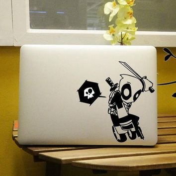"Deadpool Graffiti Style Vinyl Laptop Decal for Notebook Apple MacBook Air Sticker Pro Decal Retina Skin 11"" 12"" 13"" 15 inch"