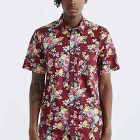 Your Neighbors Rose Floral Button-Down