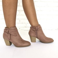 Blush Rose Close Toe Booties