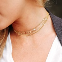 Golden Love Layered Choker Set