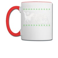 Funny Ugly Christmas T-Rex  - Coffee/Tea Mug