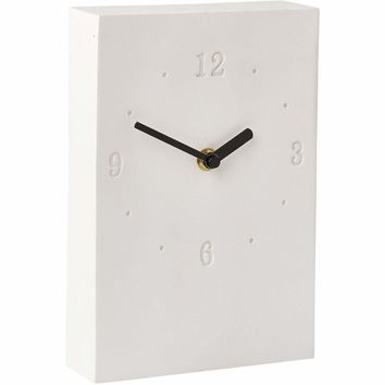 Moon Square Resin Decorative Wall Clock Battery Operated For Bathroom or Kitchen