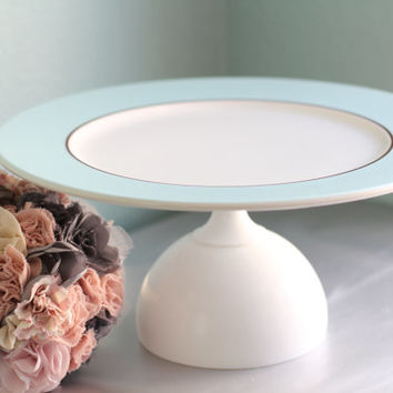 Cake Stand in Blue / Cupcake Stand / Dessert Pedestal for Wedding Truffles / Cake Pop Stand Wedding Cake Pops / Gourmet Marshmallow Platter
