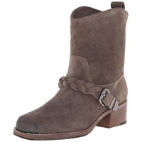 BELLE by Sigerson Morrison Womens Montes Suede Square Toe Cowboy, Western Boots