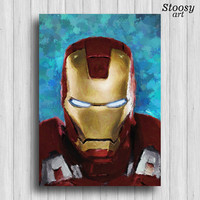 Iron Man poster avengers art marvel painting