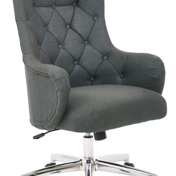 Office Star Charcoal Ariel Desk Chair